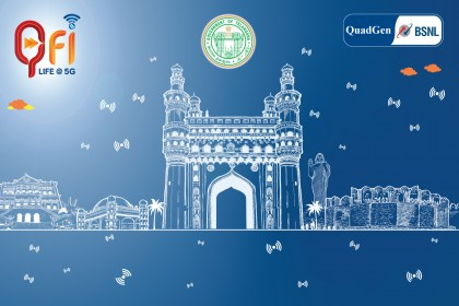 Qfi Hyderabad launch event backdrop